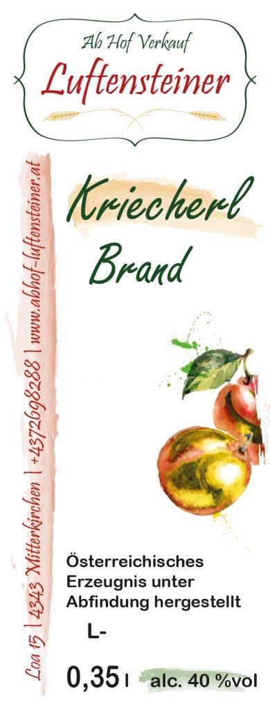 Kriecherl Brand